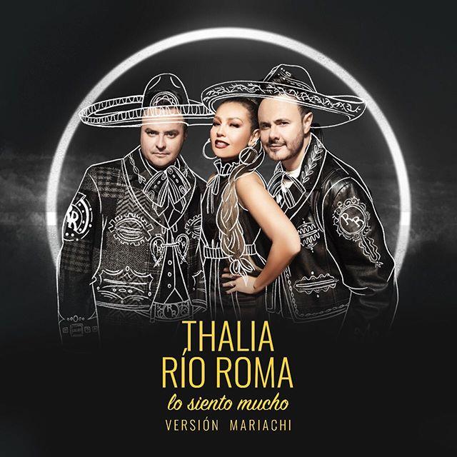 #LoSientoMucho, de veras… Listos para la versión #Mariachi con nuestra querida @thalia? Mañana lyric video y estreno!! 😎🔥🔥🔥🔥🔥🔥🔥